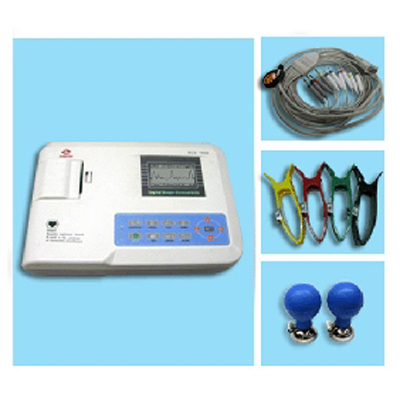 Medical Equipment ECG/EKG Digital Three Channel ECG electrocardiograph ECG-300G