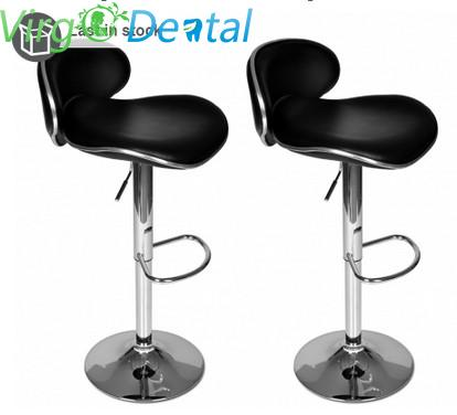 Reception Bar Stool Set of 2 Black