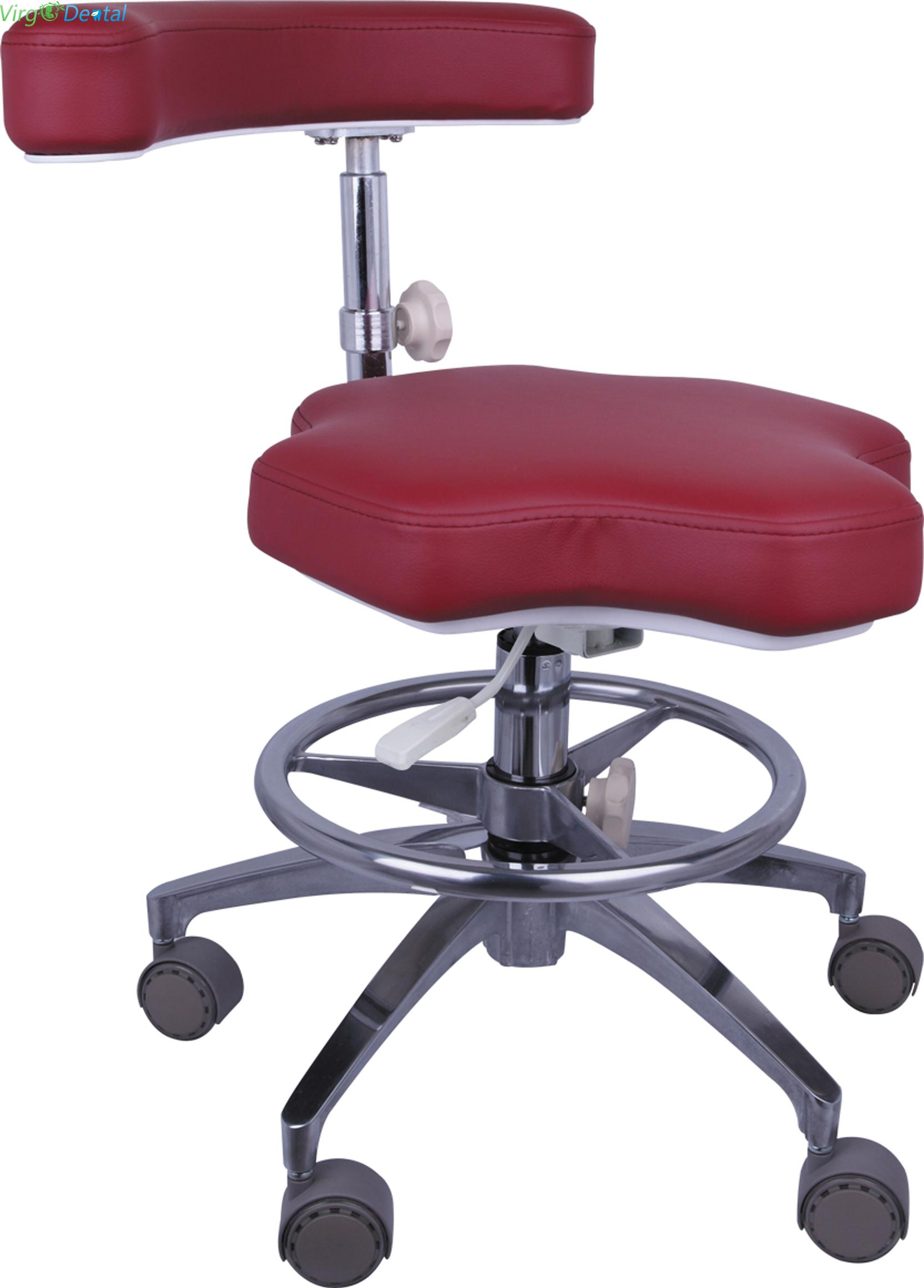 Nurse Stool Adjustable Mobile Operatory Chair QY90B Leather Type 20 Colors Optional