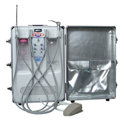 BD-406A Portable Dental Unit with Air Compressor Suction System 3 Way Syringe