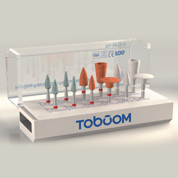 RA0112D Toboom® Polishing Kit for Zirconia 12pcs