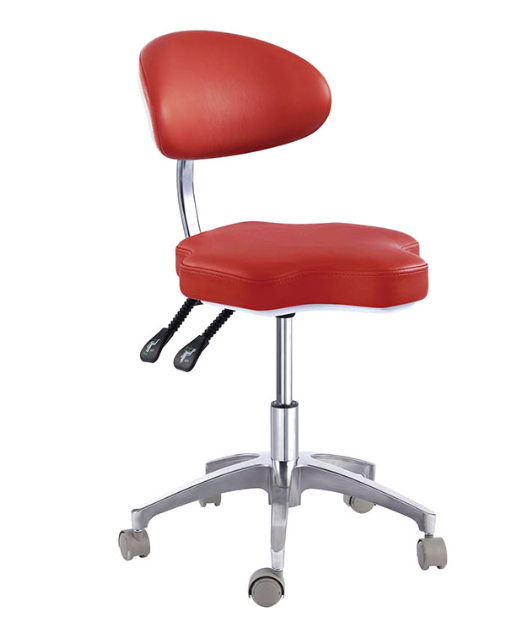 PU Leather Medical Dentist's Chair Doctor's Stool Adjustable Mobile Chair QY90B