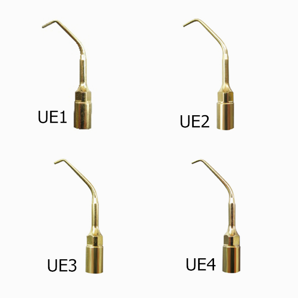4pcs Woodpecker PIEZO SURGERY Dental Endodontic Tips Kit UE1 UE2 UE3 UE4 For EMS