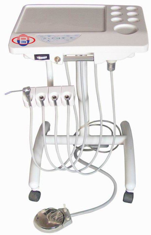 Portable Dental Unit With Air Compressor Suction System 3 Way Syringe BD-404
