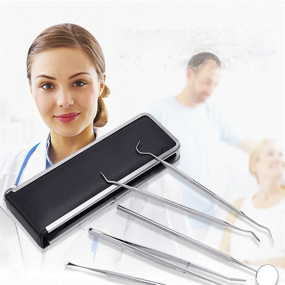 Hygiene Dental Oral Tools Black and White 5pcs/set
