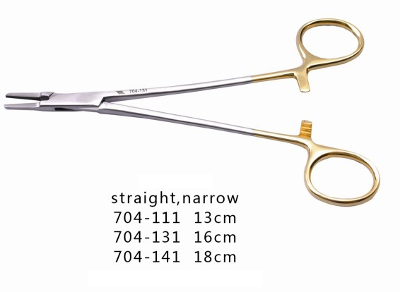 13CM/16CM/18CM Dental Needle Holders Straight Narrow Plier with TC