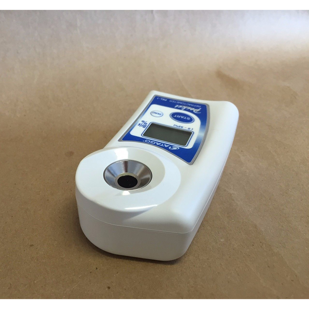 New Atago Pocket Refractometer PAL-1 Brix 0-53% Digital Hand Held Japan Design