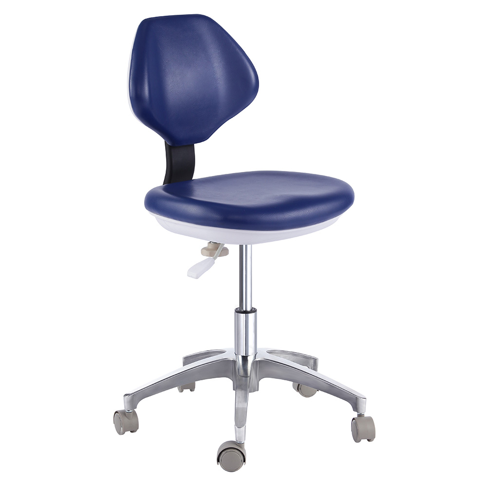 Dental Chair Pu Leather Dentist Nurse Stool Mobile Qy90g