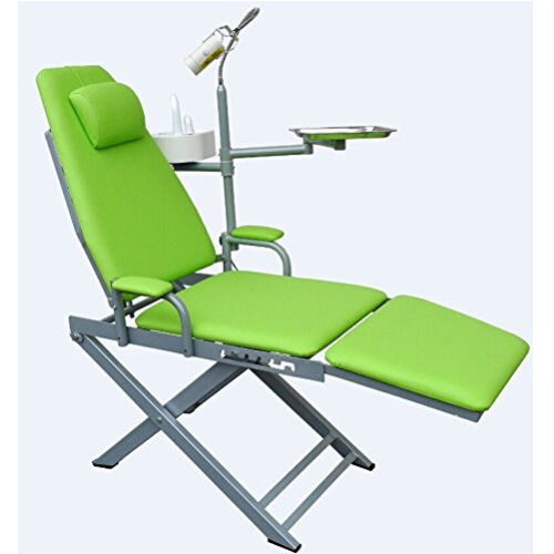 Dental Mobile Chair Unit Folding with Surgical LED Light Lamp and Tray