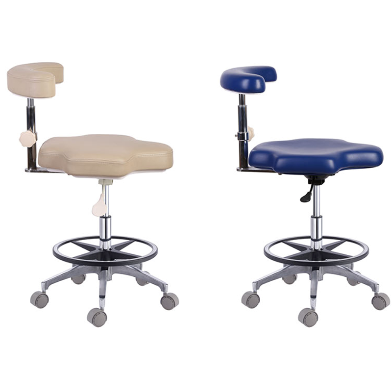 Dental Chair - Nurse Dentist Stools Adjustable- PU Leather 18 Colors Optional