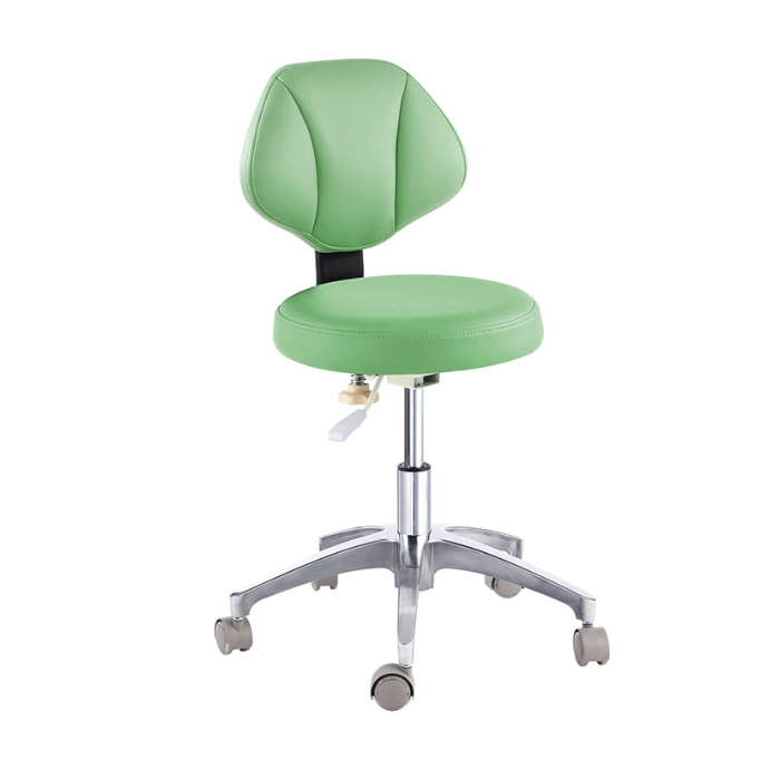 Dental Chair Adjustable Mobile PU Leather Nurse Stool For Dentist -18 Colors