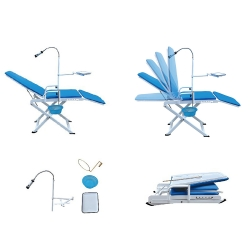 Greeloy Portable Folding Chair Model GU-P109A-2 - Lightweight and Flexible for Dental Beauty Salon