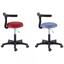 Dental Chair - Dentist Stool Medical Office Adjustable Nurse Chair PU Leather - 18 Colors