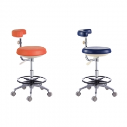 Dental Assistant Nurse Stool PU Leather Chair QY500(N) 18 Colors