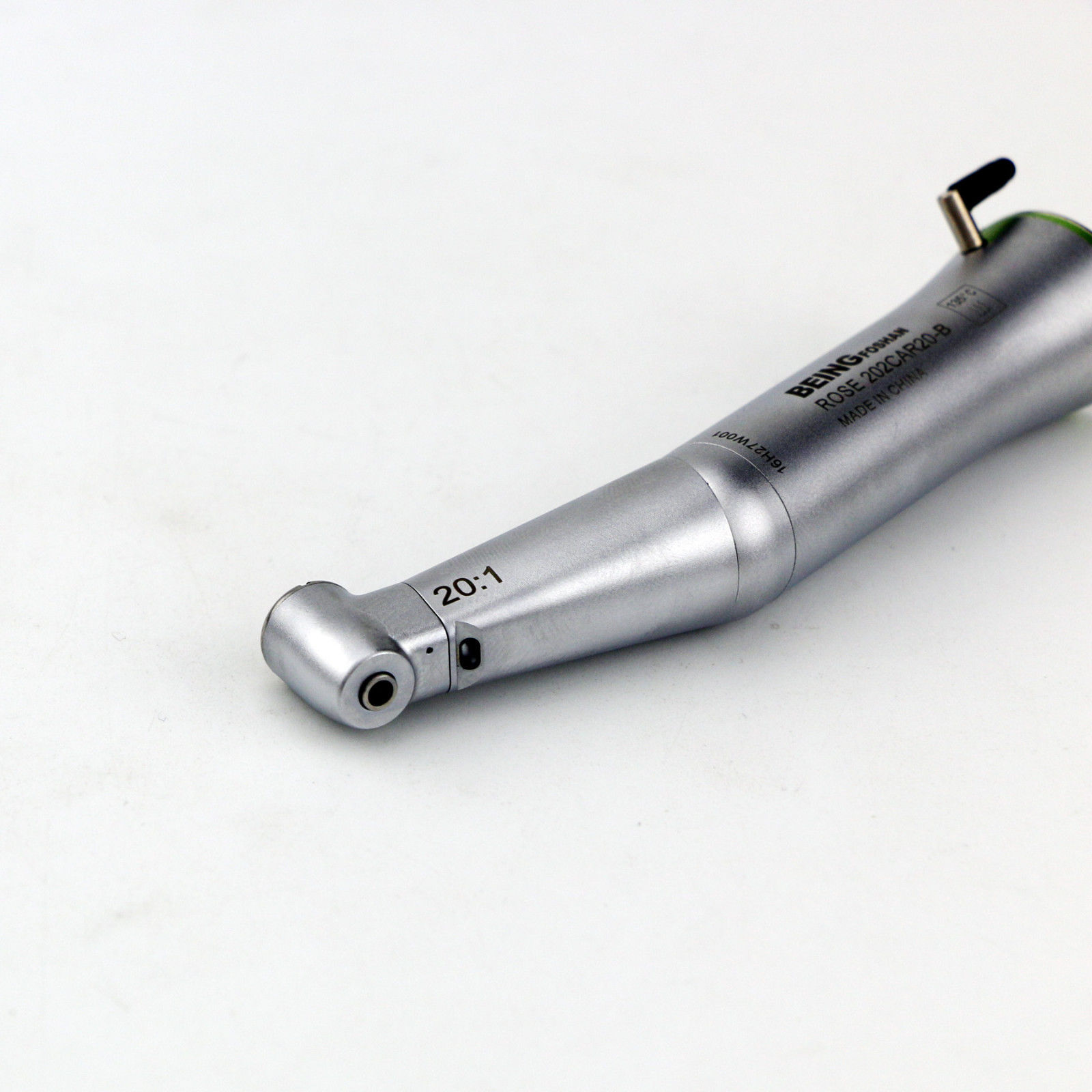 BEING 20:1 Rose 202CAR20-B Dental Fiber Optic LED Push Contra Angle Handpiece
