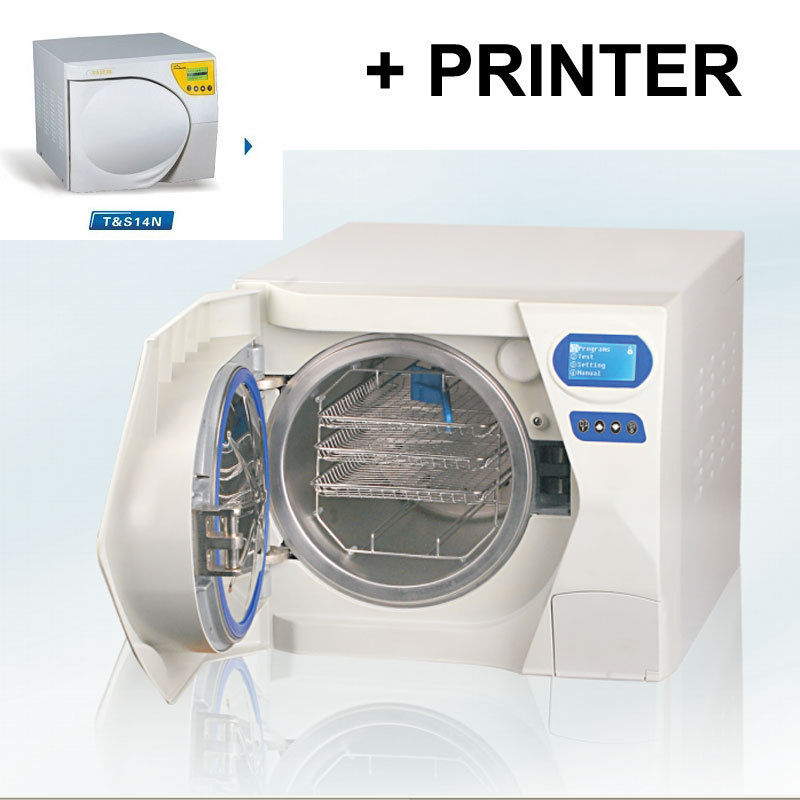 Autoclave Sterilizer Fully Automatic 14L Class N with Printer LCD Display
