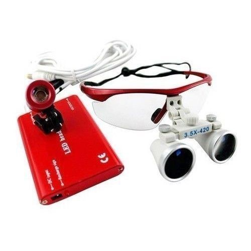 3.5X Dental Loupe Surgical Magnifying Glass + Led Headlight