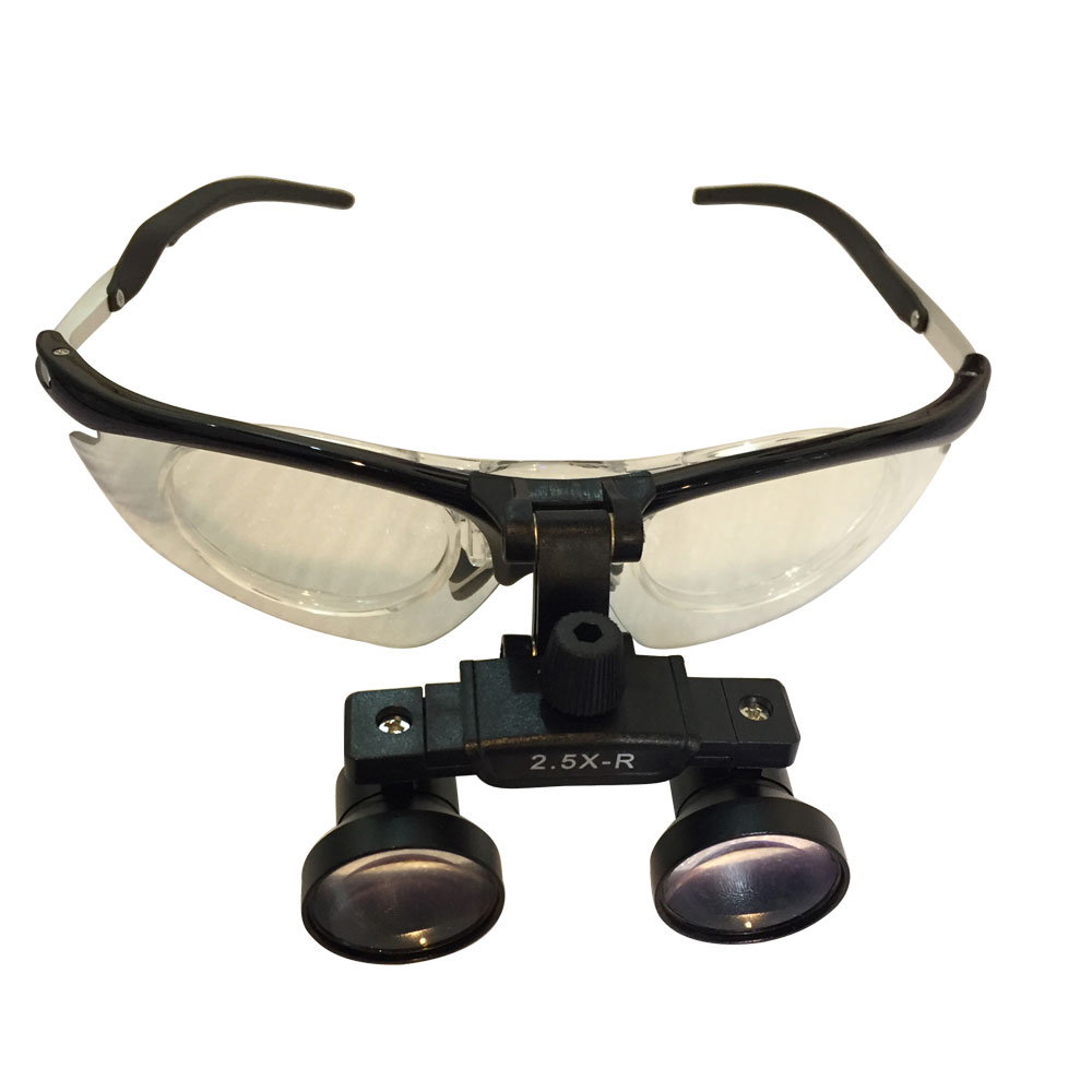 New Aluminium Dental loupes 2.5X with Long Working Distance