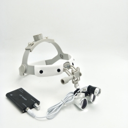 Dental Medical Surgery Magnifying Glass Dental Loupes Magnifiers + LED Headlight
