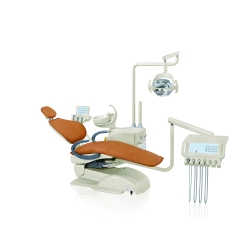Dental Chair Unit 24V DC Static Internal Guide-way CE FDA Certificate American Ultra Fabric