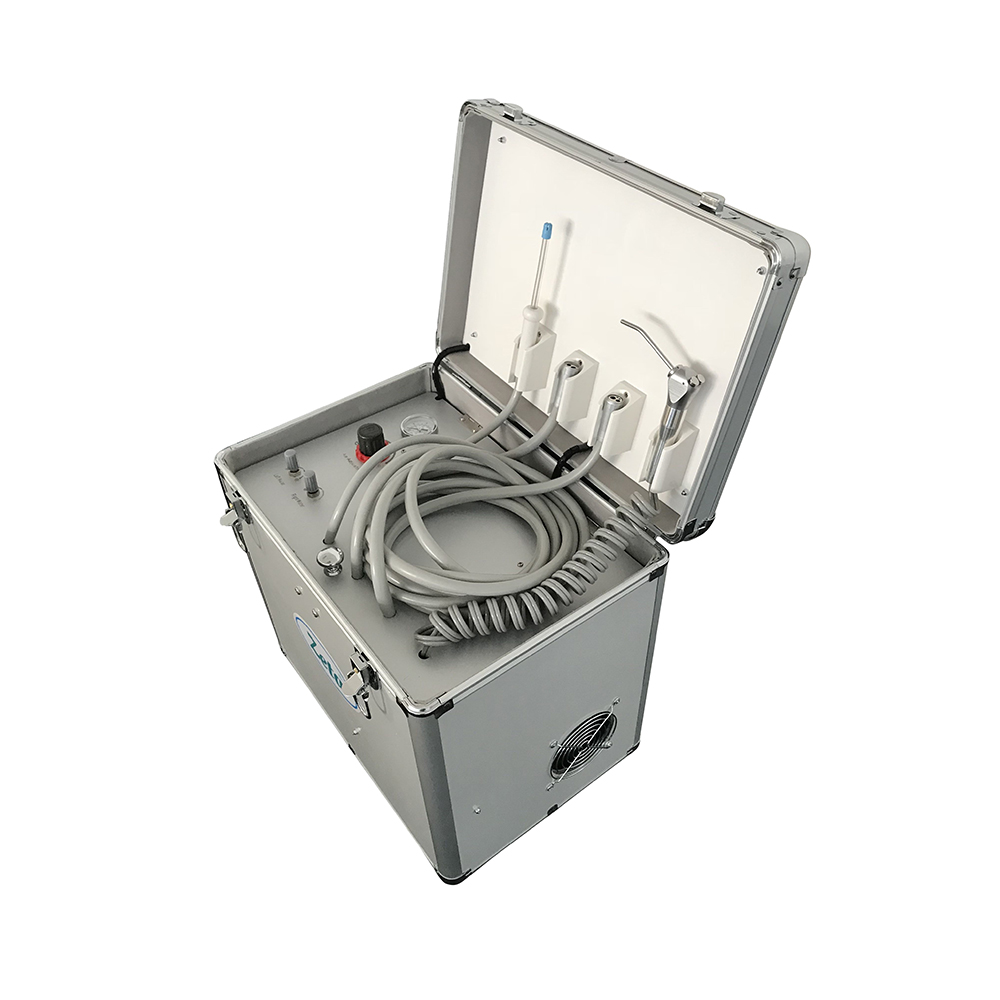 Portable Dental Unit With Air Compressor Suction System 3 Way Syringe BD-402B
