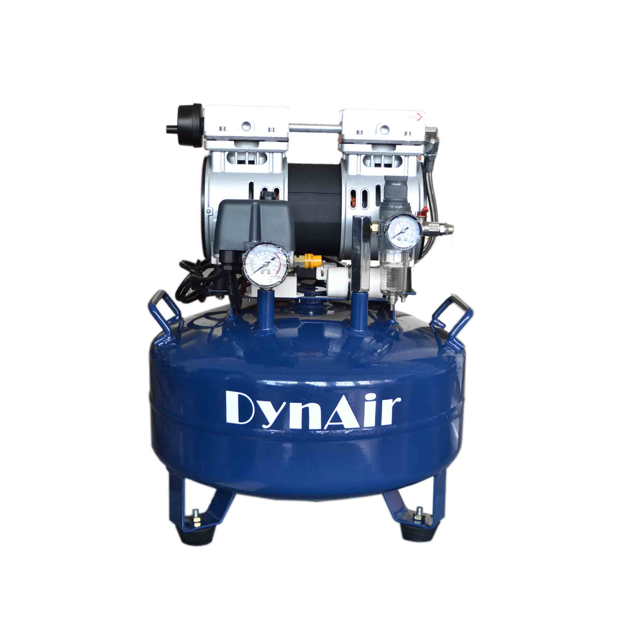 22L Dental Air Compressor Noiseless Oilless 115L/min 1-Driving-1 Stable DA5001