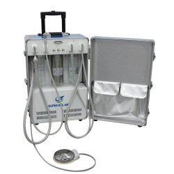 Greeloy Portable Dental Unit with Air Compressor GU-P204