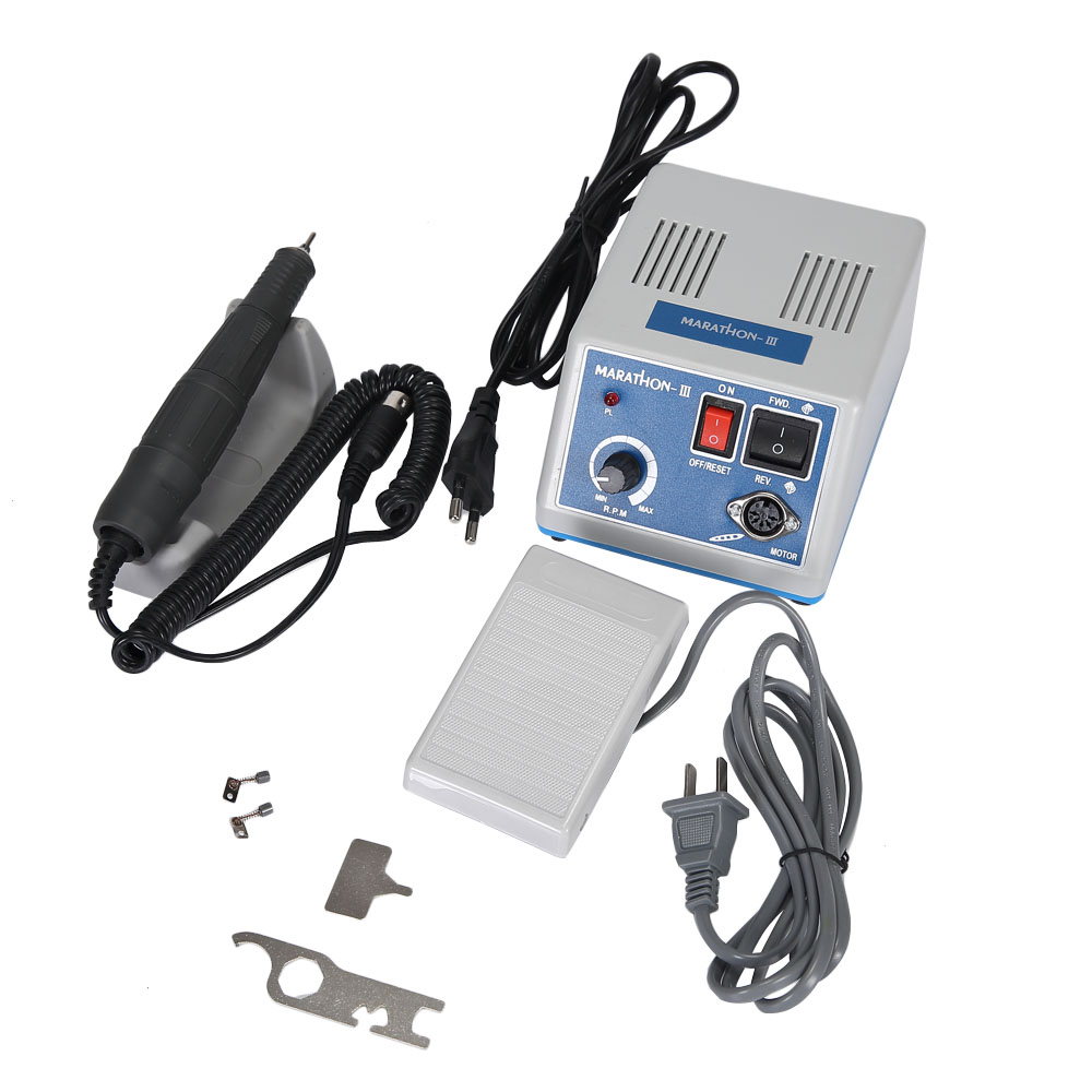 Marathon Nail Drill Micro Motor with Electric Dental Laboratory Drill Handpiece Polishing Machine for Dental Drill